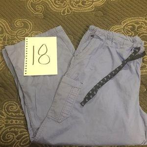 Scrub pants only. Ceil blue color.